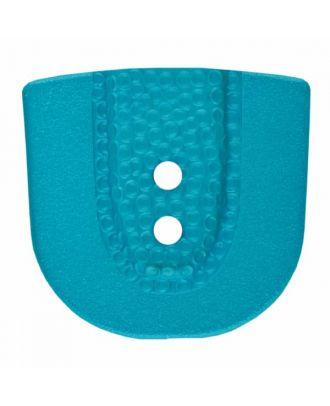 Polyamidknopf in Hufeisenform mit zwei Löchern - Größe: 30mm - Farbe: blau - Art.Nr. 385804