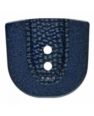 Polyamidknopf in Hufeisenform mit zwei Löchern - Größe: 30mm - Farbe: blau - Art.Nr. 385805