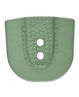 Polyamidknopf in Hufeisenform mit zwei Löchern - Größe: 30mm - Farbe: grün - Art.Nr. 385807