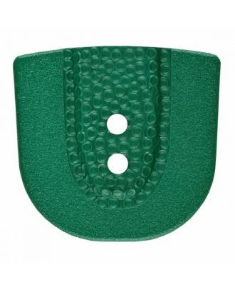 Polyamidknopf in Hufeisenform mit zwei Löchern - Größe: 30mm - Farbe: grün - Art.Nr. 385808