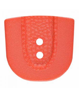 Polyamidknopf in Hufeisenform mit zwei Löchern - Größe: 30mm - Farbe: rosa - Art.Nr. 385809