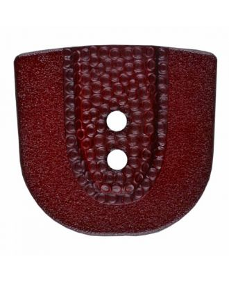 Polyamidknopf in Hufeisenform mit zwei Löchern - Größe: 30mm - Farbe: weinrot - Art.Nr. 385811