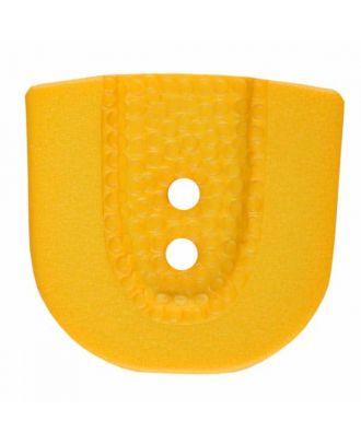 Polyamidknopf in Hufeisenform mit zwei Löchern - Größe: 30mm - Farbe: gelb - Art.Nr. 385812