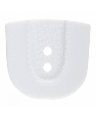 Polyamidknopf in Hufeisenform mit zwei Löchern - Größe: 30mm - Farbe: weiß - Art.Nr. 380386