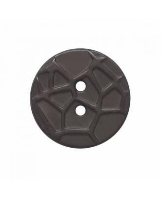 kleiner Knopf mit erhabenen Spinnennetzmuster, 2-Loch - Größe: 13mm - Farbe: grau - Art.Nr. 224800