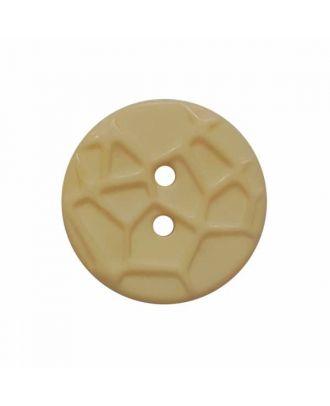 kleiner Knopf mit erhabenen Spinnennetzmuster, 2-Loch - Größe: 13mm - Farbe: beige - Art.Nr. 224801