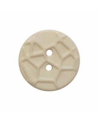 kleiner Knopf mit erhabenen Spinnennetzmuster, 2-Loch - Größe: 13mm - Farbe: beige - Art.Nr. 224802