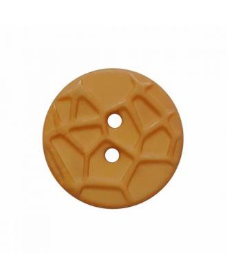 kleiner Knopf mit erhabenen Spinnennetzmuster, 2-Loch - Größe: 13mm - Farbe: beige - Art.Nr. 224803