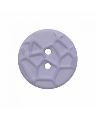 kleiner Knopf mit erhabenen Spinnennetzmuster, 2-Loch - Größe: 13mm - Farbe: blau - Art.Nr. 224806