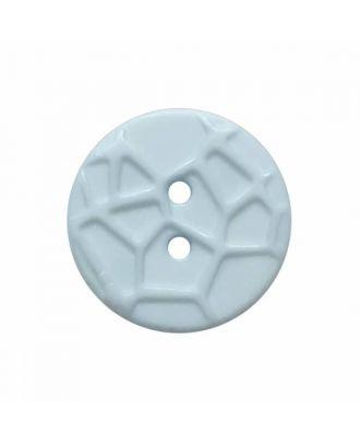 kleiner Knopf mit erhabenen Spinnennetzmuster, 2-Loch - Größe: 13mm - Farbe: blau - Art.Nr. 224807