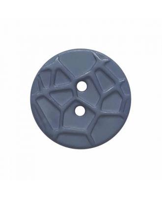 kleiner Knopf mit erhabenen Spinnennetzmuster, 2-Loch - Größe: 13mm - Farbe: blau - Art.Nr. 224808
