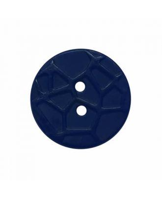 kleiner Knopf mit erhabenen Spinnennetzmuster, 2-Loch - Größe: 13mm - Farbe: dunkelblau - Art.Nr. 224810