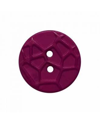 kleiner Knopf mit erhabenen Spinnennetzmuster, 2-Loch - Größe: 13mm - Farbe: lila - Art.Nr. 224811