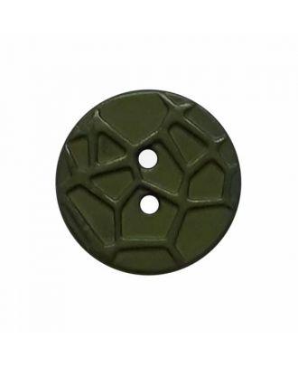 kleiner Knopf mit erhabenen Spinnennetzmuster, 2-Loch - Größe: 13mm - Farbe: grün - Art.Nr. 224814