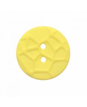 kleiner Knopf mit erhabenen Spinnennetzmuster, 2-Loch - Größe: 13mm - Farbe: gelb - Art.Nr. 224820