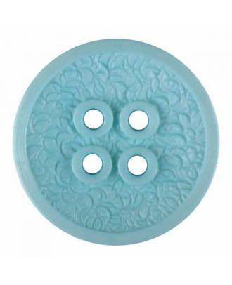 Polyamidknopf mit schmaler Kante und Oberflächenrelief mit vier Löchern - Größe: 34mm - Farbe: grün - Art.Nr. 375804