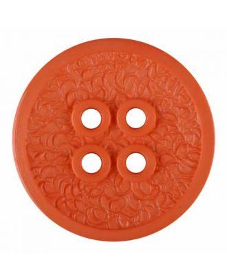 Polyamidknopf mit schmaler Kante und Oberflächenrelief mit vier Löchern - Größe: 34mm - Farbe: rosa - Art.Nr. 375809