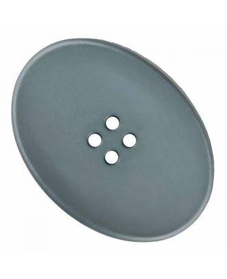 ovaler Polyamidknopf mit vier Löchern - Größe: 38mm - Farbe: grau - Art.Nr. 375825