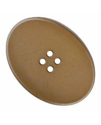 ovaler Polyamidknopf mit vier Löchern - Größe: 38mm - Farbe: beige - Art.Nr. 375826
