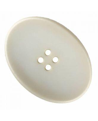 ovaler Polyamidknopf mit vier Löchern - Größe: 38mm - Farbe: beige - Art.Nr. 375827