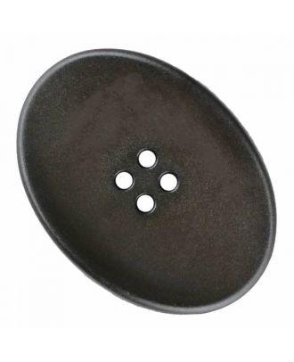 ovaler Polyamidknopf mit vier Löchern - Größe: 38mm - Farbe: braun - Art.Nr. 375828