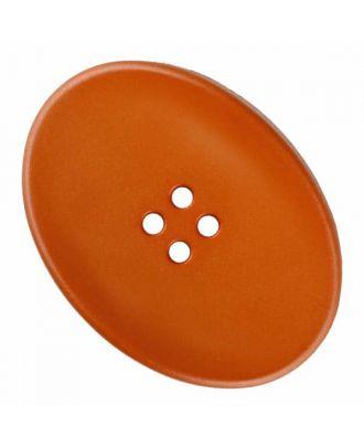 ovaler Polyamidknopf mit vier Löchern - Größe: 38mm - Farbe: braun - Art.Nr. 375829