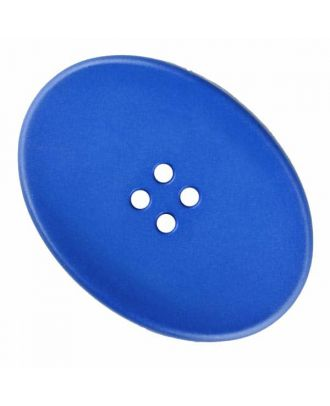 ovaler Polyamidknopf mit vier Löchern - Größe: 38mm - Farbe: blau - Art.Nr. 375830