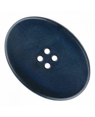 ovaler Polyamidknopf mit vier Löchern - Größe: 38mm - Farbe: blau - Art.Nr. 375831