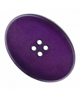 ovaler Polyamidknopf mit vier Löchern - Größe: 38mm - Farbe: lila - Art.Nr. 375832