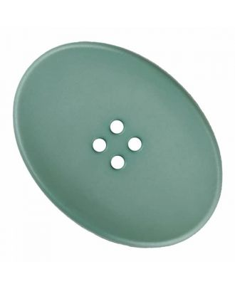 ovaler Polyamidknopf mit vier Löchern - Größe: 38mm - Farbe: grün - Art.Nr. 375833
