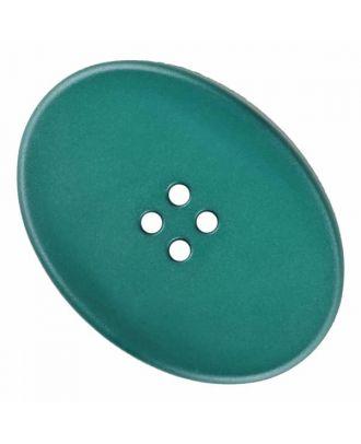 ovaler Polyamidknopf mit vier Löchern - Größe: 38mm - Farbe: grün - Art.Nr. 375834