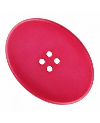 ovaler Polyamidknopf mit vier Löchern - Größe: 38mm - Farbe: rosa - Art.Nr. 375835
