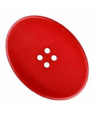 ovaler Polyamidknopf mit vier Löchern - Größe: 38mm - Farbe: rot - Art.Nr. 375836