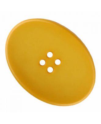 ovaler Polyamidknopf mit vier Löchern - Größe: 38mm - Farbe: gelb - Art.Nr. 375837