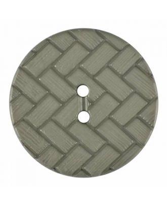 Polyamidknopf mit Flechtmuster und zwei Löchern - Größe: 28mm - Farbe: grau - Art.Nr. 375838