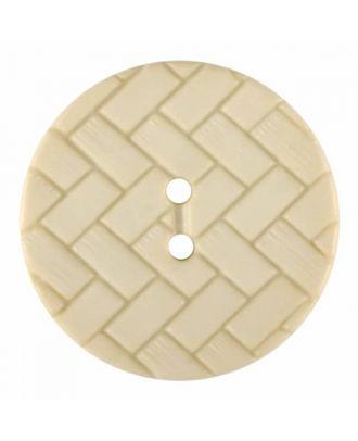 Polyamidknopf mit Flechtmuster und zwei Löchern - Größe: 28mm - Farbe: beige - Art.Nr. 375839