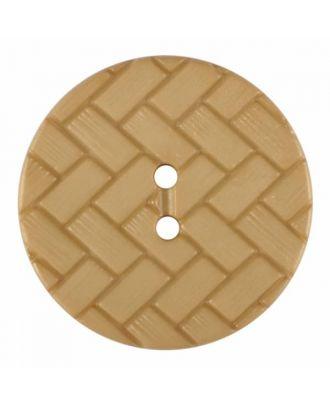 Polyamidknopf mit Flechtmuster und zwei Löchern - Größe: 28mm - Farbe: beige - Art.Nr. 375840