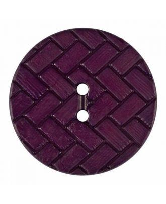 Polyamidknopf mit Flechtmuster und zwei Löchern - Größe: 28mm - Farbe: lila - Art.Nr. 375844
