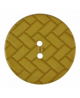 Polyamidknopf mit Flechtmuster und zwei Löchern - Größe: 18mm - Farbe: grün - Art.Nr. 315832