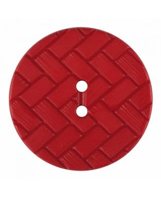 Polyamidknopf mit Flechtmuster und zwei Löchern - Größe: 28mm - Farbe: rot - Art.Nr. 375847
