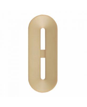 Polyamidknopf Knebelform 2 Löcher - Größe: 25mm - Farbe: beige - Art.-Nr.: 346801