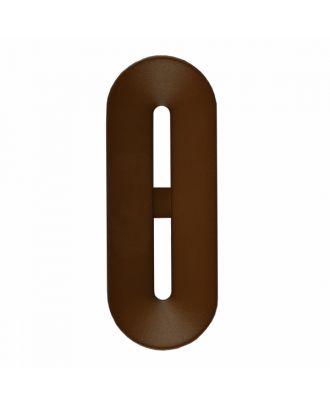 Polyamidknopf Knebelform 2 Löcher - Größe: 25mm - Farbe: braun - Art.-Nr.: 346802