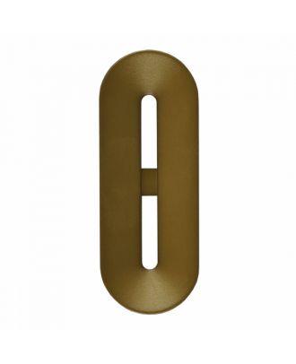 Polyamidknopf Knebelform 2 Löcher - Größe: 40mm - Farbe: braun - Art.-Nr.: 406803