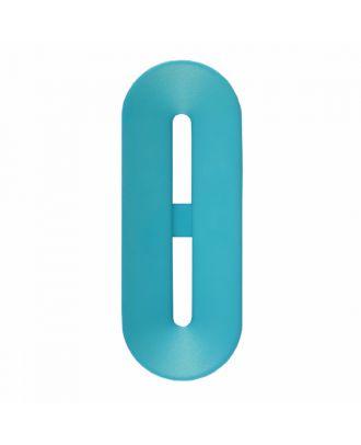 Polyamidknopf Knebelform 2 Löcher - Größe: 30mm - Farbe: blau - Art.-Nr.: 386804