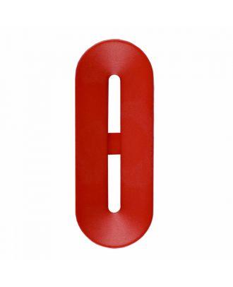 Polyamidknopf Knebelform 2 Löcher - Größe: 40mm - Farbe: rot - Art.-Nr.: 406809
