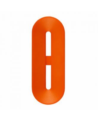 Polyamidknopf Knebelform 2 Löcher - Größe: 40mm - Farbe: orange - Art.-Nr.: 406811
