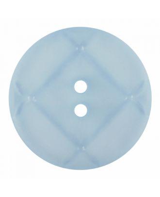 Plexiglasknopf rund mit matter Oberfläche und 2 Löchern - Größe: 28mm - Farbe: blau - Art.-Nr.: 376827