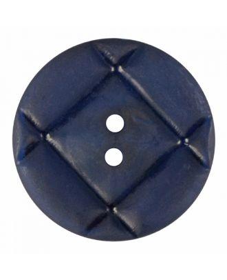 Plexiglasknopf rund mit matter Oberfläche und 2 Löchern - Größe: 28mm - Farbe: marine blau - Art.-Nr.: 376828