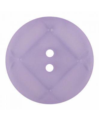 Plexiglasknopf rund mit matter Oberfläche und 2 Löchern - Größe: 28mm - Farbe: lila - Art.-Nr.: 376829