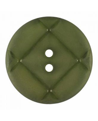 Plexiglasknopf rund mit matter Oberfläche und 2 Löchern - Größe: 23mm - Farbe: hellgrün - Art.-Nr.: 346854